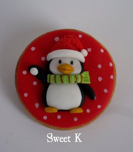 cakes decor - sweet k - christmas - christmas cookie - penguin cookie