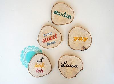 Lindos Posavasos de maderas con Diseños