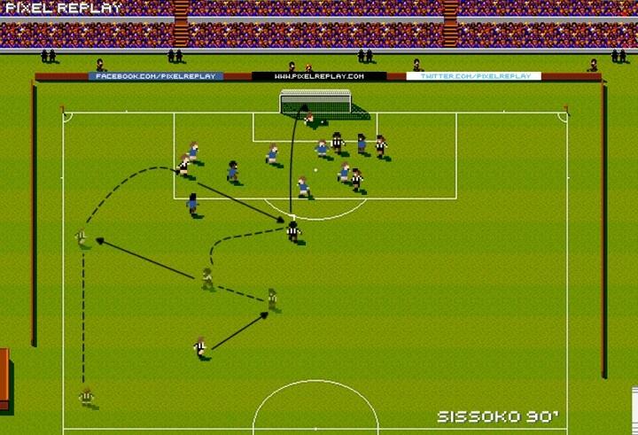 Sissoko's goal v Chelsea captured in Sensible Soccer format. Brilliant!
