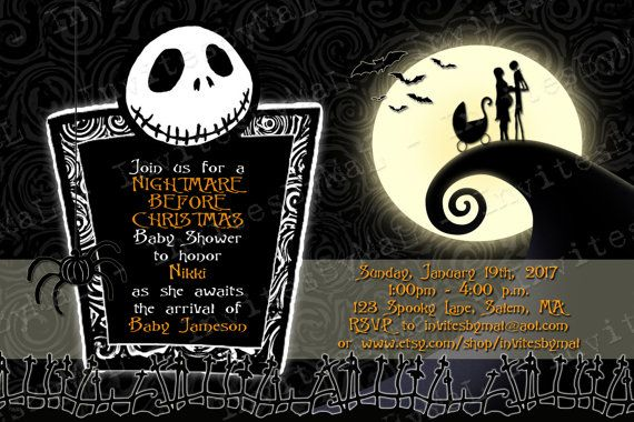 Nightmare Before Christmas Baby Shower Invitation by InvitesByMaL, $15.00