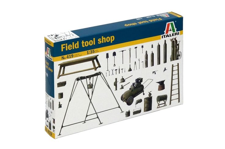 Gallery Pictures - Field Tool Shop -- Plastic Model Military Diorama Kit -- 1/35 Scale -- #550419