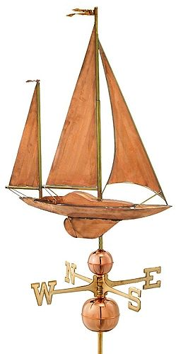 Sailboat style weather vane by Good Directions.