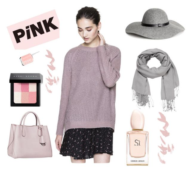 Pink sweater by julimatveeva on Polyvore featuring мода, H&M, maurices, Bobbi Brown Cosmetics, Essie, Aroma and Alexander McQueen