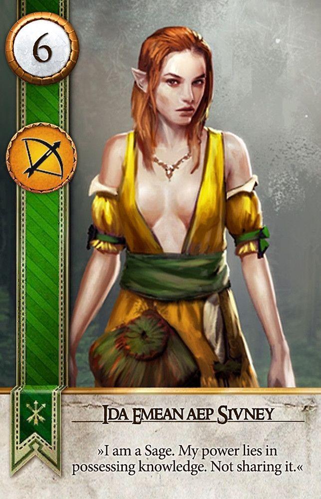 Ida Emean aep Sivney (Gwent Card) - The Witcher 3: Wild Hunt