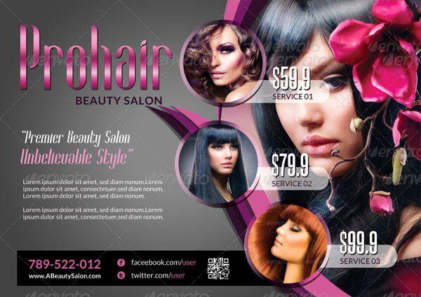 Hair Flyers Free Template New 20 Examples Of Rack Card Designs Psd Ai Vector Eps Beauty Salon Flyer Free Beauty Products Free Brochure Template