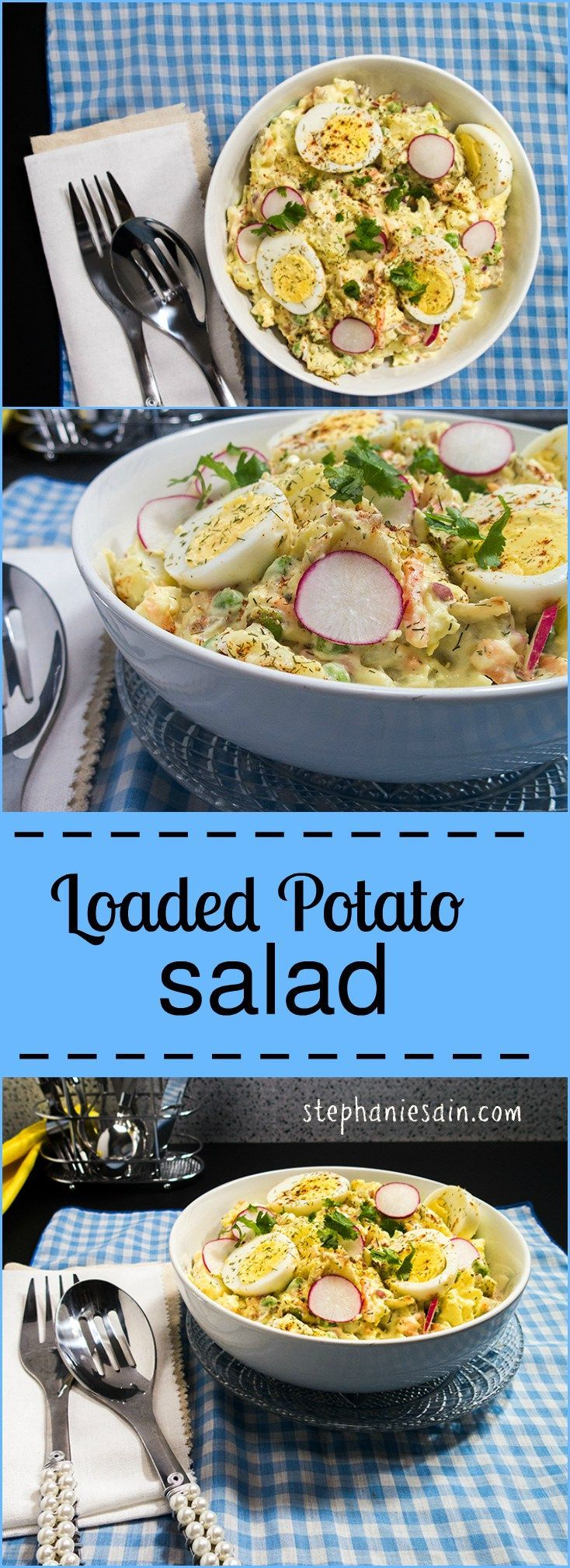 Loaded Potato Salad is the perfect side for any gathering or cookout. Fully…