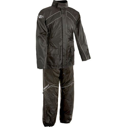 Joe Rocket Rs-2 Men's 2-piece Street Racing Motorcycle Rain Suits - Black/black / Medium http://www.motorcyclegoods.com/15-best-rain-suits/