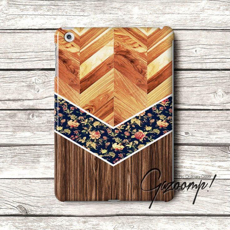 Beautiful Brown Wood Chevron Pattern iPad Air Case by Gazooomp