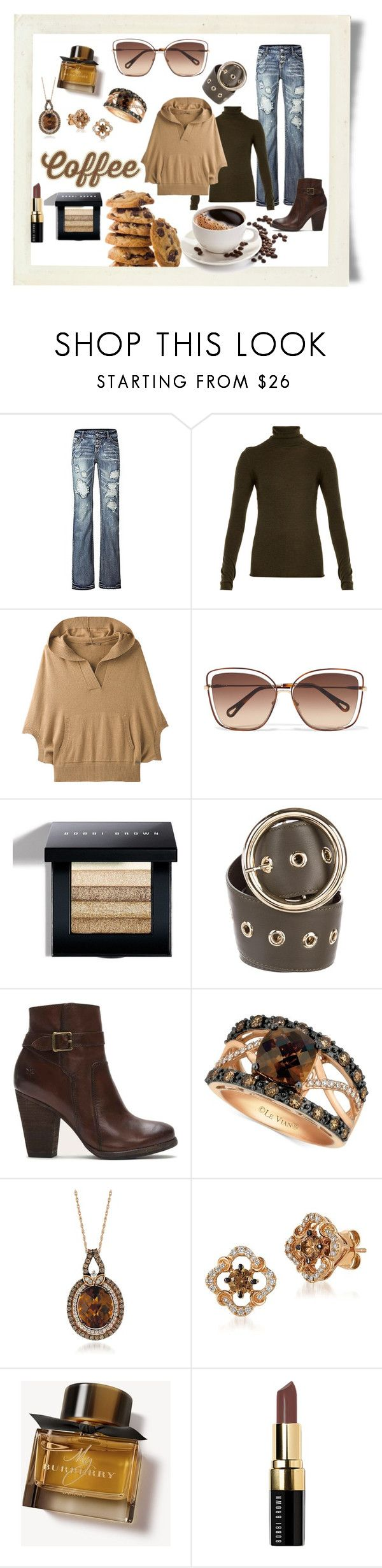 """""""Coffee: Elixir of Life"""" by shoultesshark ❤ liked on Polyvore featuring Joseph, prAna, Chloé, Bobbi Brown Cosmetics, Elie Saab, Frye, LE VIAN and Burberry"""