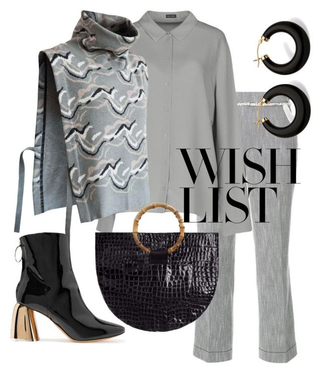 """monochrome textures"" by constantinerenakossy on Polyvore featuring Odeeh, Iris van Herpen, Palm Beach Jewelry, E L L E R Y, Veda and modern"