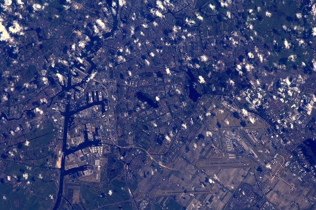Amsterdam from Outta space by Andre Kuipers