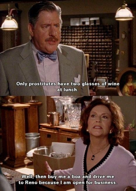 Funny quote from Gilmore Girls