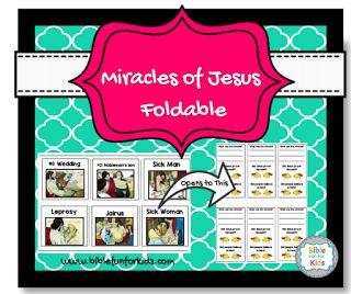 Miracles of #Jesus Foldable #Biblefun