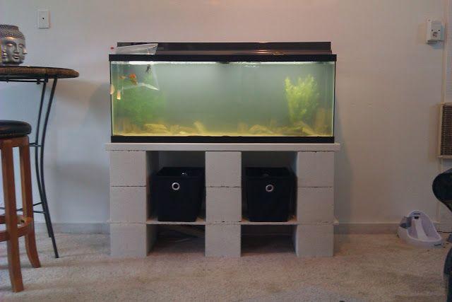 Diy Cinder Block Aquarium Stand Fish Tank Stand Tank Stand