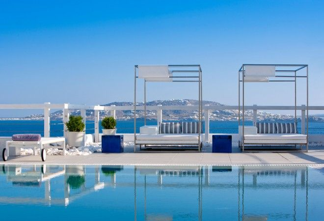 The intimate and dainty Grace Mykonos spa hotel in the Aegean Islands is within reach of vibrant Mykonos Town and offers spectacular views of the Aegean and the Greek Islands.