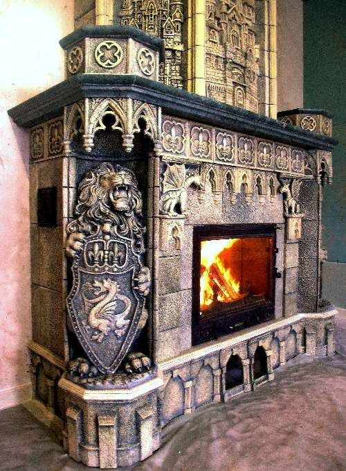 Gothic Decor // LOVE this fireplace // home and gardens // style // decorating