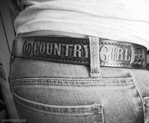 Country girl belt fashion black and white girl country jeans