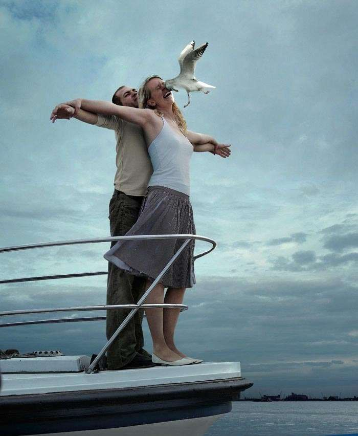 Perfectly Timed Titanic Fail!