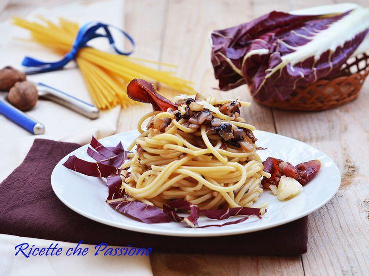 Pasta Radicchio e Speck con grana e noci #WorldPastaday