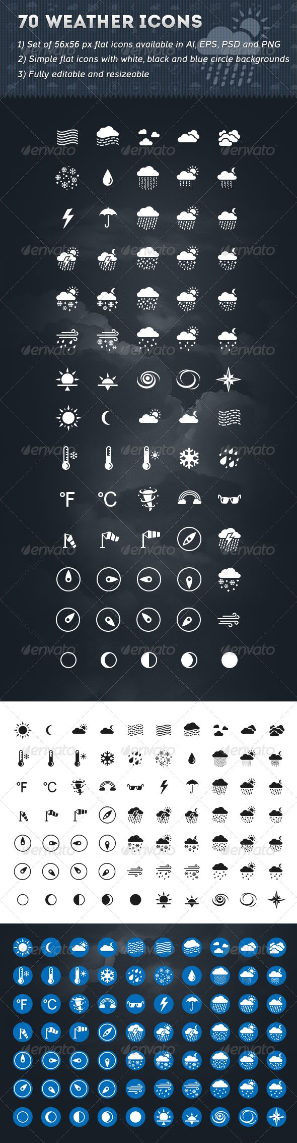 70 Weather Icons | Buy and Download: http://graphicriver.net/item/70-weather-icons/6509981?WT.ac=category_thumb&WT.z_author=valery_medved&ref=ksioks