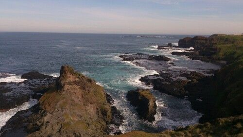 Looking towards the nobbies alon the spectacular rugged coastline