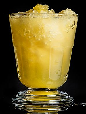 The Bourbon Slush is a sneakily potent cocktail that doubles as a frosty dessert. Don't be afraid to use concentrated lemonade and bottom-shelf booze.