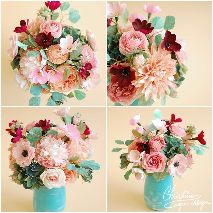 paper flowers centerpiece (2)