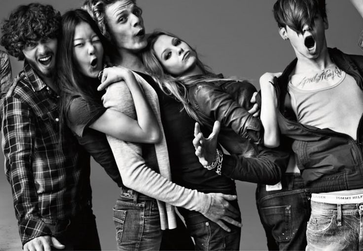 Tommy Hilfiger Denim Campaign FW 2010-11 - Cameron Bailey, Cole Mohr, Hyoni Kang, Lenz von Johnston, Noma Han and Skye Stracke by Simon Procter