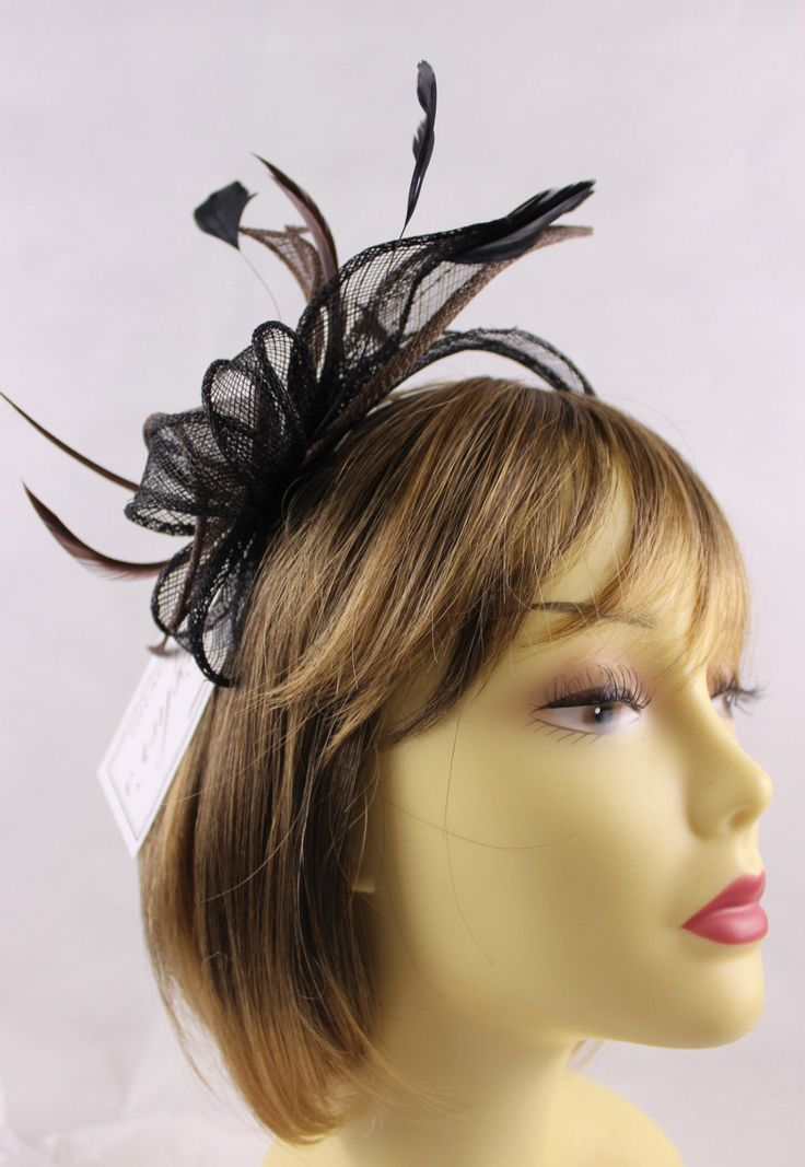 Fischers Beautiful Sinamay Fascinator Brown Black Weddings Races Prom Ebay
