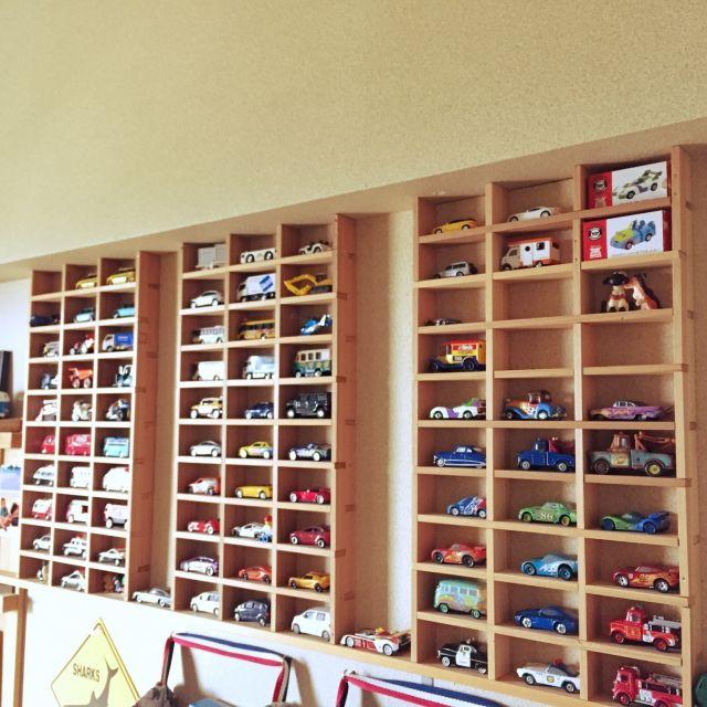 fujikoさんの、棚,子供部屋,DIY,トミカ,おもちゃ収納,こども部屋,ディスプレイ棚,小物収納,おもちゃ棚,トミカ収納,ディスプレイ棚DIY,トミカ棚,子供がいる家,トミカ収納&ディスプレイ,のお部屋写真