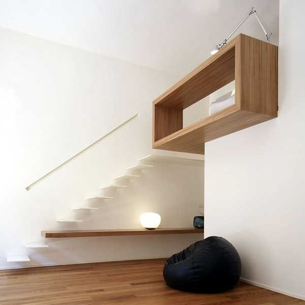 House Studio by Studioata 2 Beautiful Wood Insertions in a Modern Homes Interior Design