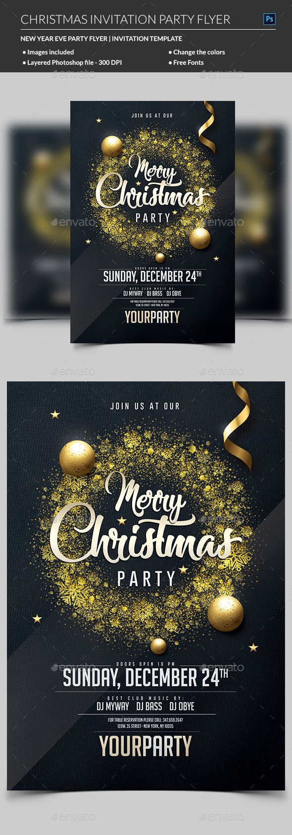 Christmas Party Invitation 258 best Flyer Ideas