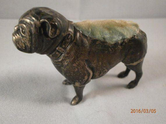 antiguo plata perno cojín bulldog britton gould & por Shabbywonder