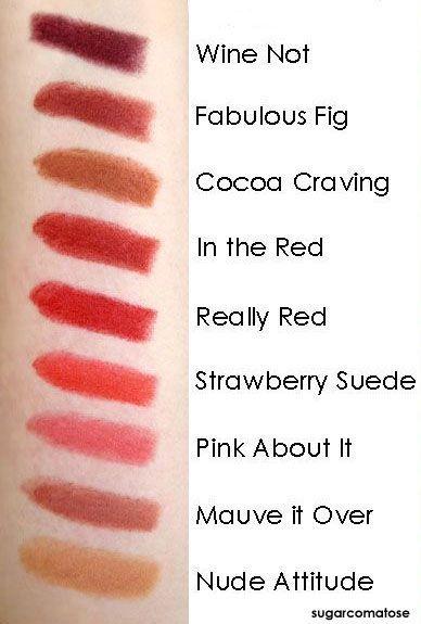 Revlon Lipstick Shade Chart