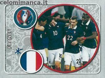 UEFA EURO 2016™ Official Sticker Album: Fronte Figurina n. 9 France Team