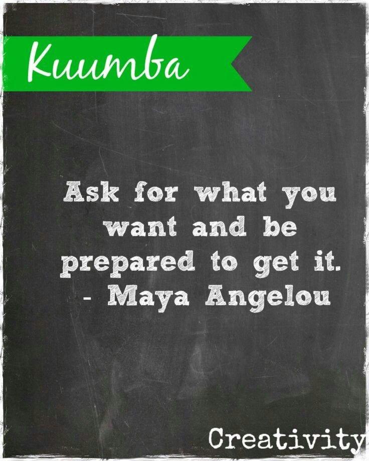 Kwanzaa day 6: Kuumba