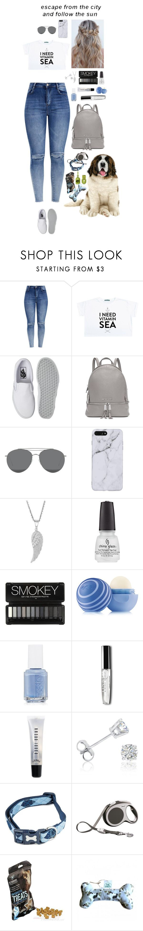 """Untitled #20"" by konoko ❤ liked on Polyvore featuring Vans, Michael Kors, Gentle Monster, Eos, Essie, Bobbi Brown Cosmetics and Amanda Rose Collection"