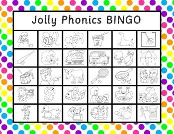 Jolly Phonics BINGO is a fun way to review the Jolly Phonics actions. The letters in this version are SASOON PRIMARY PRINT FONT - (Primer Print version is available in my store). The download includes:-15 BINGO game boards - (for whole class activity print 2 of each).-Two sets of calling cards - (one set is the action pictures and the other set is the letters in sasoon primary print).