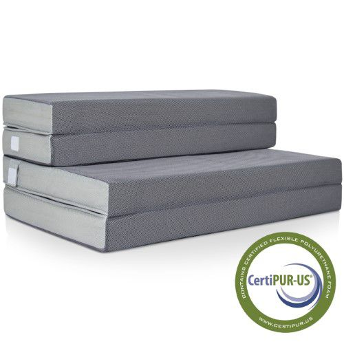 Best Choice Products High Density Foam 4 In. Foldable Mattress-Full | Jet.com