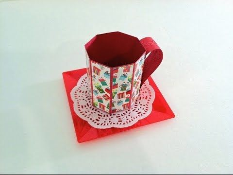 How to Create a Paper Gift Mug Tutorial - Perfect for little handmade gifts! - YouTube