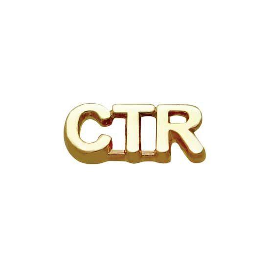 """Pin Tie Tack """" CTR """" Gold J35G"""