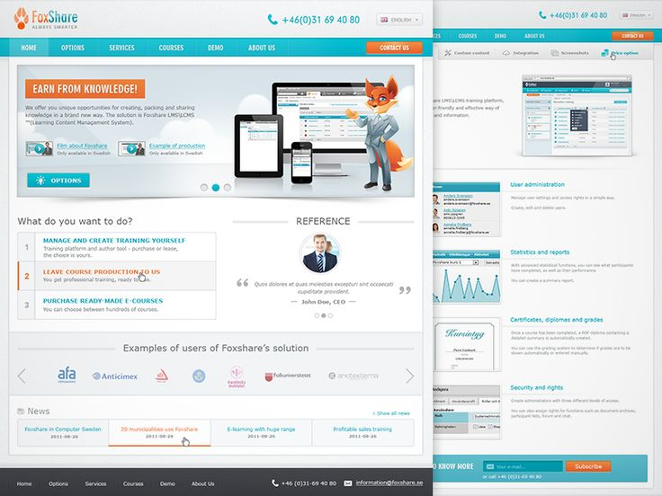 Learning Management System - Website by Bota Iusti