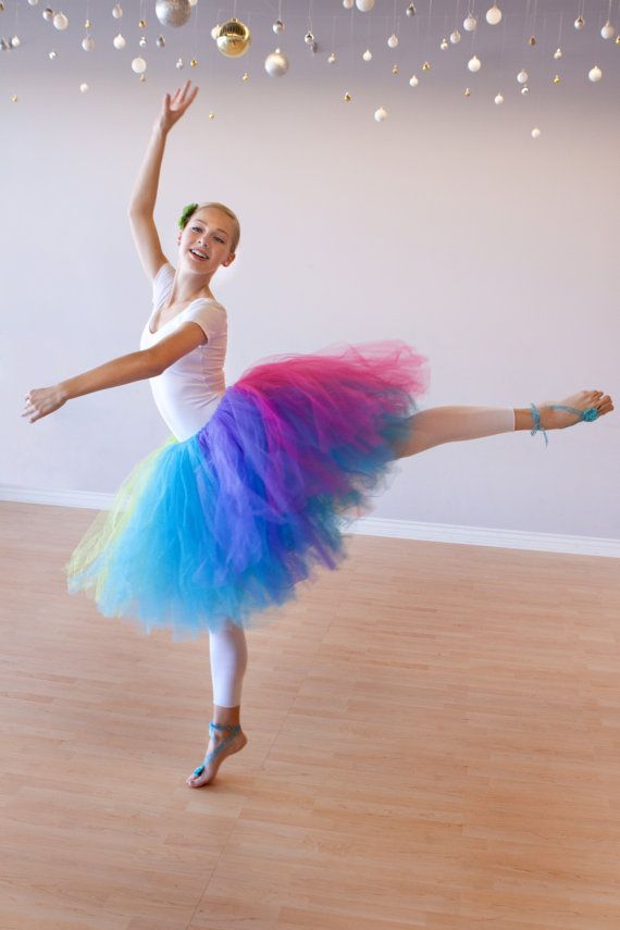 Teen Adult Rainbow Ballet Tutu Skirt - Wedding - Ballet - Photo Shoot - CUSTOM COLORS