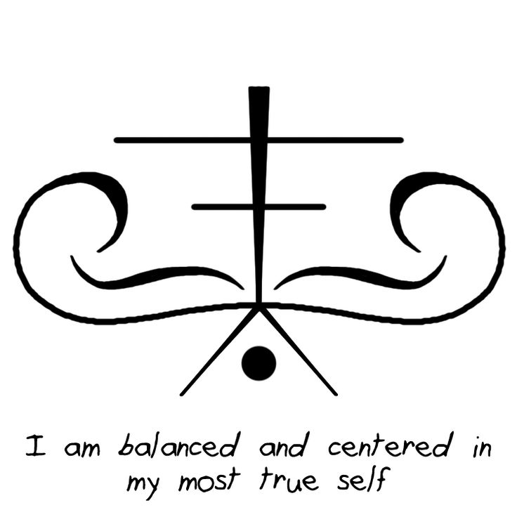 """I am balanced and centered in my most true self"" sigil Requested by Anonymous"