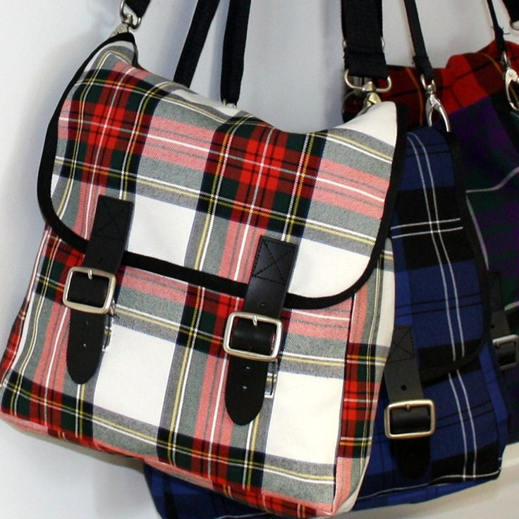 Tartan Messenger Bag; I would love to have one