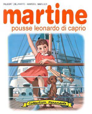 Martine pousse Leonardo di Caprio