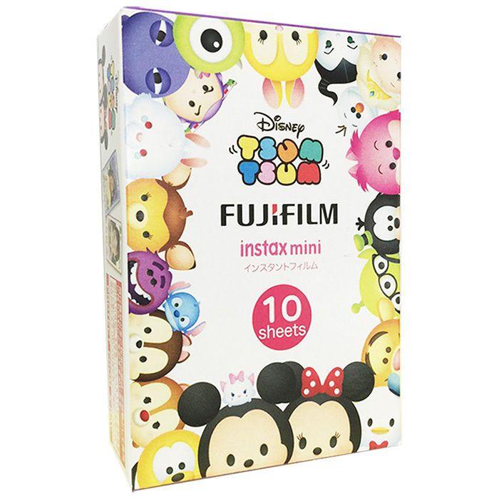 NEW BOXED FUJIFILM FUJI INSTAX WHITE MINI FILM 1PACK (10PCS) / Disney TSUM TSUM #FUJIFILM
