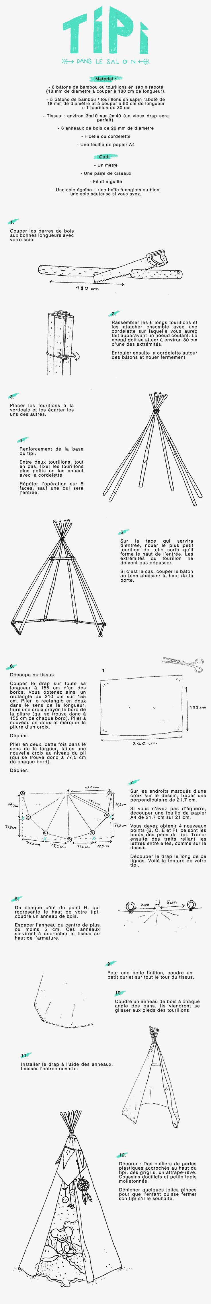 DIY : construire un tipi pour enfant