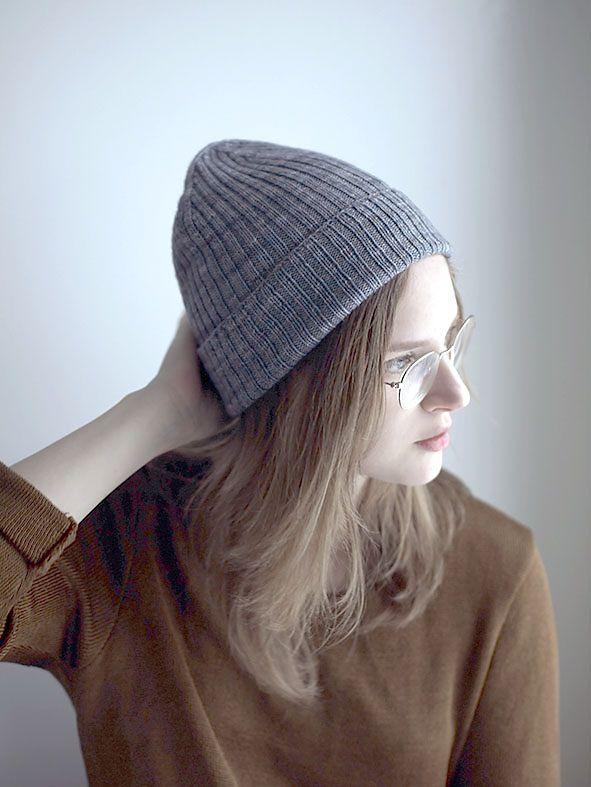 шапка бини резинкой 2 на 2 спицами вязаные шапки вязаные шапки