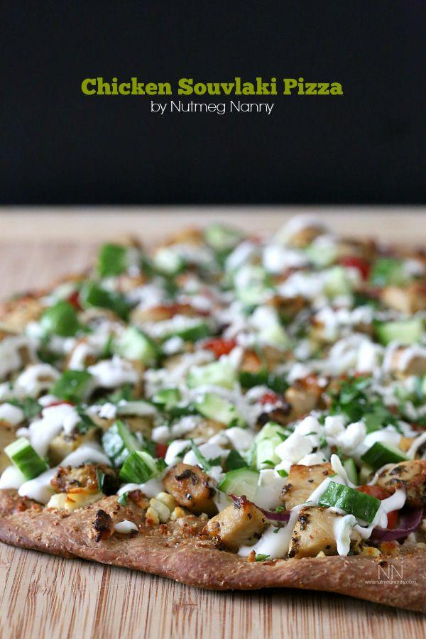 Chicken Souvlaki Pizza from @Brandy O'Neill   Nutmeg Nanny